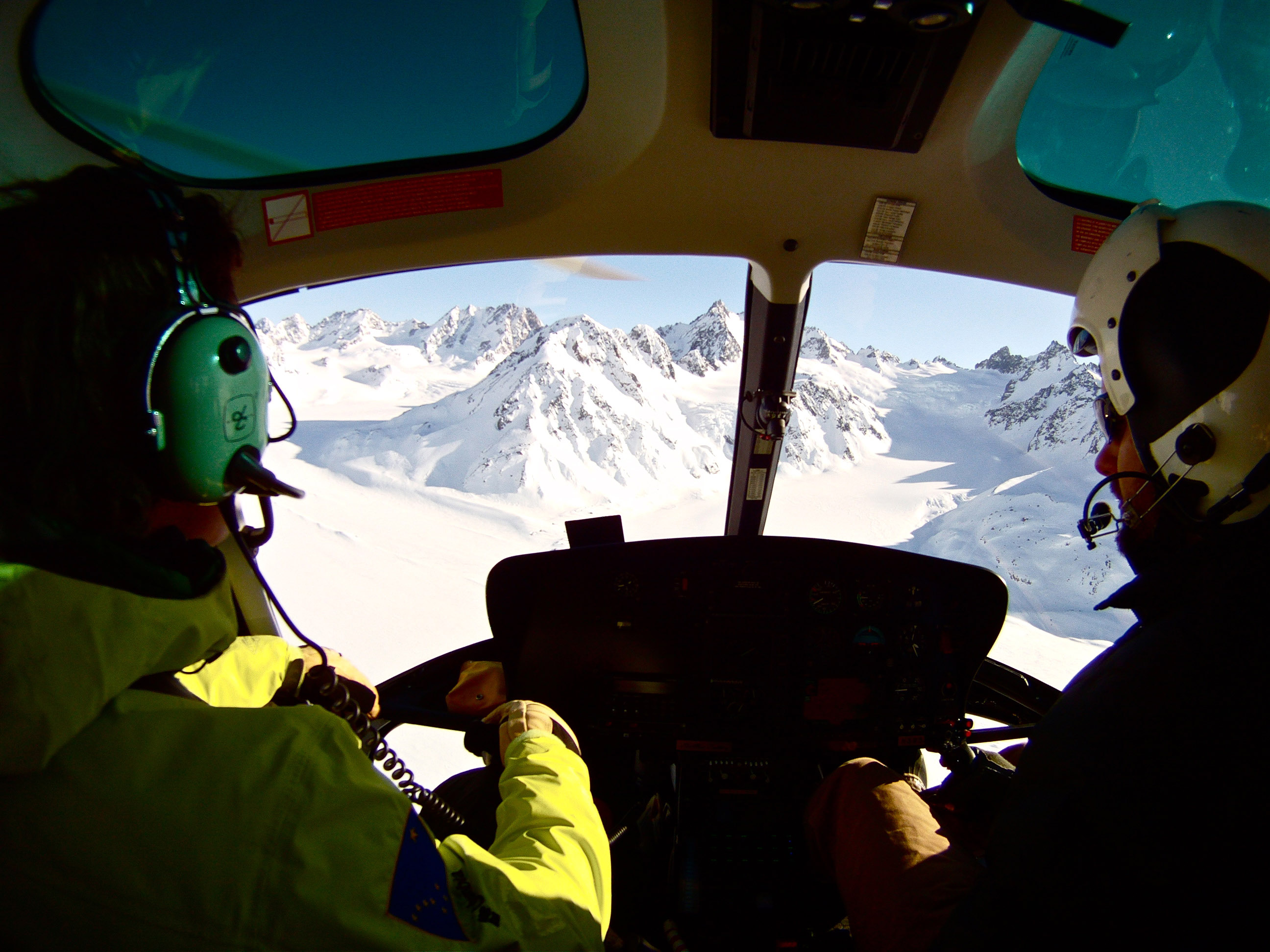 Helicopter view of the Chugach